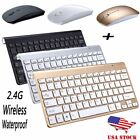 Ultra Slim 2.4G Wireless Full Size Portable Keyboard Mouse Combo For Laptop PC