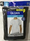 GILDAN MEN'S BLACK CREW NECK T SHIRTS 8 PACK S M L XL COTTON COMFORT TAG FREE image