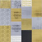 Anita's Peel off Outline Stickers Card Crafts Gold Silver Black Letters Numbers