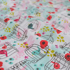Song Bird fabric 100% COTTON 112cm wide per FQ/Half metre craft/sewing fabric