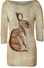 New Womens Rabbit Knitted Stretch 3/4 Jumper Ladies Slash Neck Long Top 8 - 14