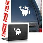 Внешний вид - Android eating apple funny die cut vinyl decal / sticker  phone tablet conpu