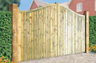 Shaped Top Double Wooden Driveway Gates | Choice of 2.4m - 3.6m (w) x 1.8m (h)