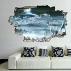 Wolf Moon Night Wall Art Stickers Mural Decal Kids Room Home Office Decor Ej16