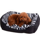 Waterproof Pet Bed Cat Nest Mat Zebra Cushion  Luxury Puppy Fabric Sofa W0610