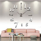 DIY Large 3D Number Mirror Wall Sticker Home Decor Big Watch Art Clock Fashion