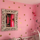 Gold Polka Dots Wall Sticker Kid Decal Vinyl Art Home Living Room Bedroom Decor