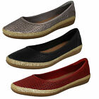 Ladies Clarks Slip On Summer Shoes D Fit Danelly Adira