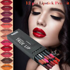 12PC Makeup Matte Lipstick Long Lasting Waterproof Lip Gloss Liquid Pencil Liner