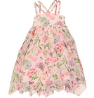 ARTISAN NY Girls pretty pink floral Hanky Hem DRESS lawn cotton 6/7Y BNWT