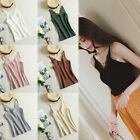 Women Ladies Knitted Summer Vest Top Sleeveless Blouse Casual Tops T-Shirt