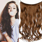 Hidden Wavy Invisible Wire Flip On Halo Hair Extensions 100% Remy Human Hair 80G