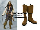Pirates of the Caribbean Jack Sparrow Cosplay Boots Shoes Custom Made Halloween
