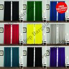 THERMAL BLACKOUT CURTAINS Eyelet Ring Top Plain Solid Luxury Hotel No Tie backs