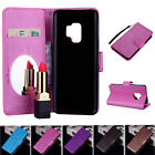 Mirror Case PU Leather Wallet Flip Stand & Card Slot Cover for Samsung S9 Plus