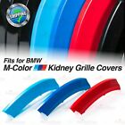 M-Sport Kidney Gril Grille Tri-Color Covers Insert Clips fit BMW ALL Series HERE