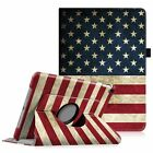 """For Apple iPad 9.7"""" 2018 2017 Release 360 Rotating Case Cover w/ Pencil Holder"""