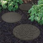 Garden Stepping Stones Recycled Rubber Outdoor Reversible Footpath Scroll Design