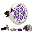1pc Stainless 30mm Car Diffuser Aroma Essential Oil Perfume Locket Vent Clip