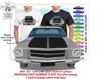 HQ HOLDEN MONARO 71-74 GTS FRONT CLASSIC ILLUSTRATED T-SHIRT MUSCLE CAR