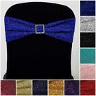 25 Glittered Spandex CHAIR SASHES Ties Wraps Wedding Ceremony Party Decorations
