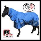LOVE MY HORSE 600D 5'6 - 6'6  600D Waterproof Rainsheet Combo Rug Blue / Tarten