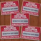 Roblox Virtual Toys CODES ONLY Celebrity Gold Series 1 2 3 Mystery Figures Packs