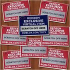 Roblox Exclusive Virtual Toys CODES ONLY Celebrity Gold Series 1 2 3 4 Figures