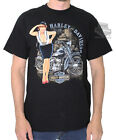 Harley-Davidson Mens Ride Into History Pinup Black Short Sleeve Biker T-Shirt $9.99 USD