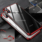 Luxury Ultra Slim Shockproof Silicone Clear Case Cover for iPhone 7 X 8 6s 6