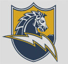 Cross stitch chart, San Diego, Chargers, NFL, American, Football, US. $12.5 USD