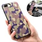 XOOMZ Camo Phone Case for iPhone 7 8 Plus Genuine Leather Back Hard Case Cover f