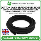 Cotton Over Braided, Fuel Hose Line Rubber Unleaded Petrol Diesel Pipe
