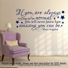 """""""How amazing you can be""""-Maya Angelou Motivational Quote Wall Art Sticker inspir"""