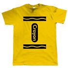 Crayon Mens Funny T Shirt, Stag Do, Holiday or Fancy Dress Costume - All colours