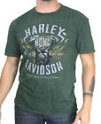 Harley-Davidson Mens Engine Mineral Wash Raw Edge Green Short Sleeve T-Shirt $9.99 USD