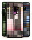 high end cell phone cases - Fits Samsung Galaxy S9 Plus Case Slim High-End Plaid Protector Hybrid Cover