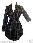 Ladies womans winter warm brushed cotton work long tunic top dress size 8-14