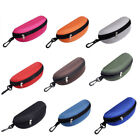 Portable Zipper Eye Glasses Clam Shell Sunglasses Protect Hard Case Box Clever