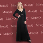 Long Black Dress Smart Casual Party Evening Maxi Long Sleeve Comfy Soft Jersey