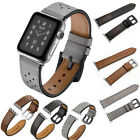 Silicone & Leather Wristwatch Bracelet Sport Band Strap For Apple iWatch 38/42mm