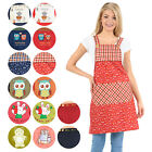 Cotton Canvas Apron With Cute Character Patterns and Front Pocket -14 Variations