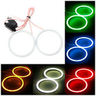 2x 70MM COB 81 LED Angel Eyes Headlight Halo Ring Light For BMW E46 Car T3H5