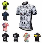 WEIMOSTAR Men's Cycling Jersey Team Bike Clothing Short Sleeve Bicycle T-Shirt