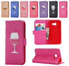 Glasses Bling Glitter Wallet Case Stand Cover for Samsung Galaxy A310 A510 2016
