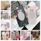 Cute Mirror Glitter Stars Silica Gel Clear Case Cover For iphone X 6s 7 8 Plus $4.77 CAD on eBay