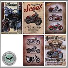 A Selection Of Motorcycle Related Collectable Tin Signs New £6.99 GBP on eBay