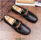 Mens Oxfords Casual Loafers Shoes Genuine Leather Horsebit Moccasins Driving Hot