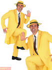 The Mask Jim Carrey Costume 90s Movie Yellow Gangster Suit Fancy Dress Outfit