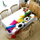 Contracted Soccer 3DTablecloth Table cover Cloth Rectangle Wedding Party Banquet